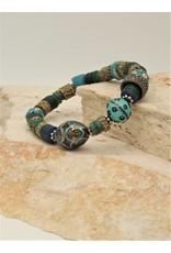 Gildas Gewels Turquoise Enamel & Diamonds Bracelet