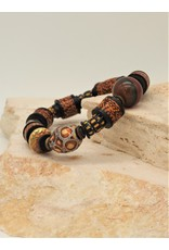 Gildas Gewels GG-B1285C Enamel, Heishi w/Diamond Bead Bracelet