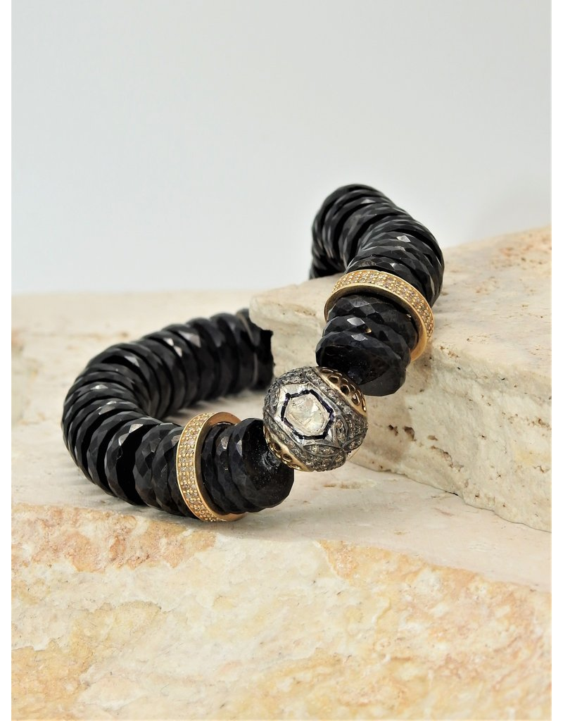 Gildas Gewels B1226B-C Black Beads