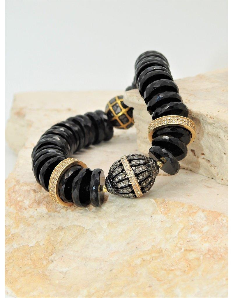 Gildas Gewels B1226A-C Black/Gold Bead