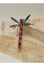 Bug Man Coral Dragonfly Pin/Pendant