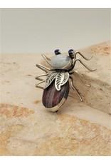 Bug Man HR-P Moonstone, Jaspar & Lapis Bug Pin