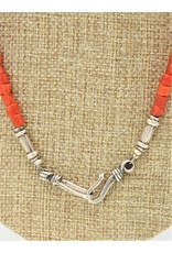 Pam Springall Red Mediterranean Coral Branches Necklace