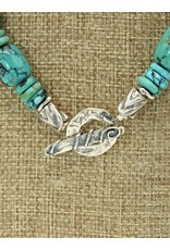 Pam Springall Turquoise Barrels & Rondells Necklace