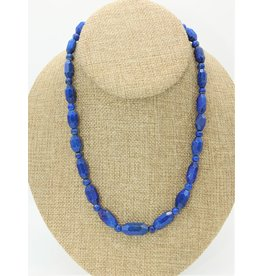 Pam Springall Lapis Faceted Beads Necklace