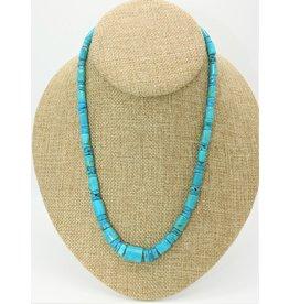 Pam Springall Nakozari Turquoise Graduated Barrels & Rondells