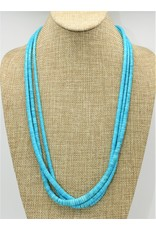 Pam Springall 3 Strand Sleeping Beauty Turquoise Necklace