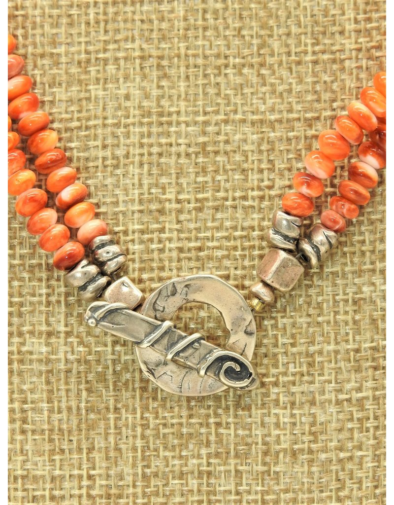 Pam Springall Double Strand Spiny Oyster Necklace
