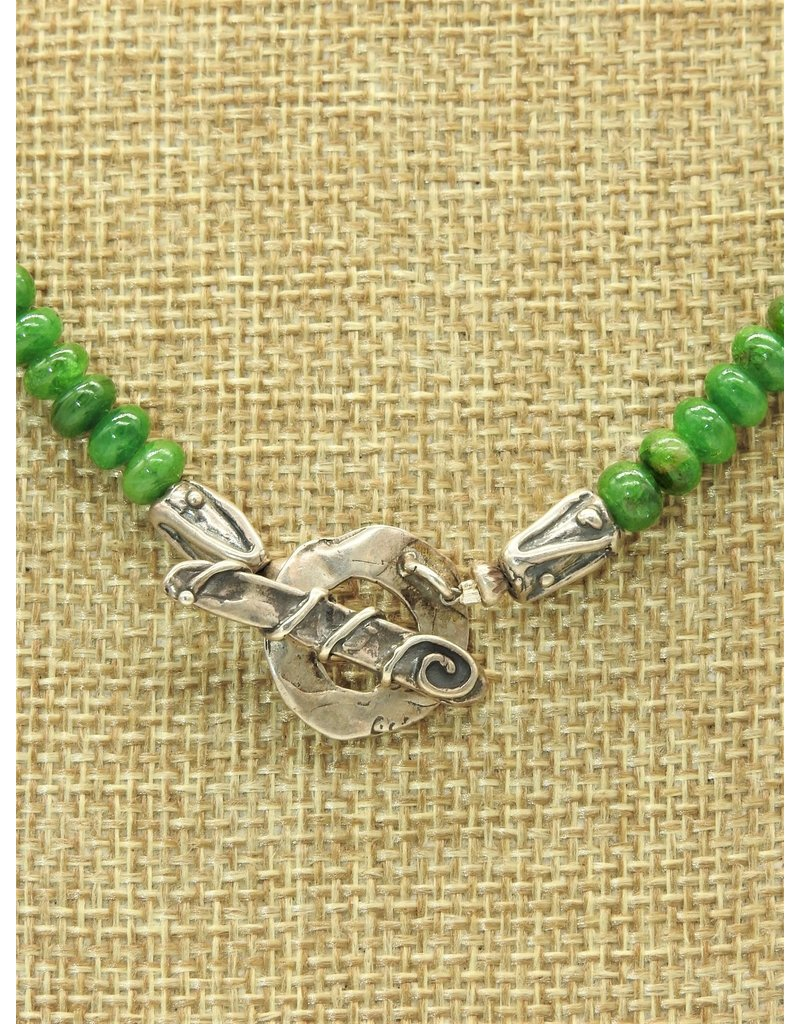 Pam Springall PS-N141C Chromium Diopside, SS Clasp