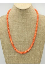 Pam Springall Orange Spiny Oyster Necklace