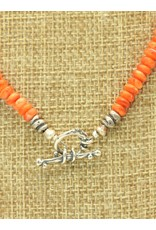 Pam Springall Orange Spiny Oyster Necklace