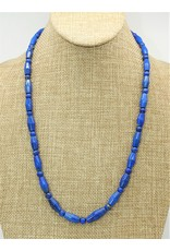 Pam Springall PS-N128C Lapis Tube Bead Necklace