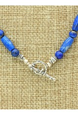 Pam Springall Lapis Tube Bead Necklace