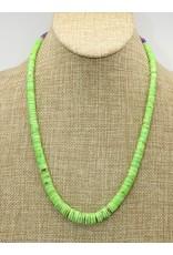 Pam Springall Gaspeite Heishi & Sugilite Necklace