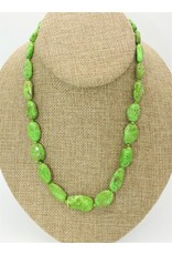 Pam Springall Graduated Gaspeite Nuggets Necklace
