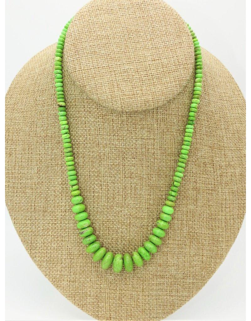 Pam Springall Graduated Gaspeite Rondells Necklace