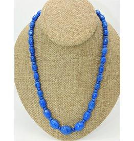 Pam Springall PS-N36C Denim Lapis Bead Necklace
