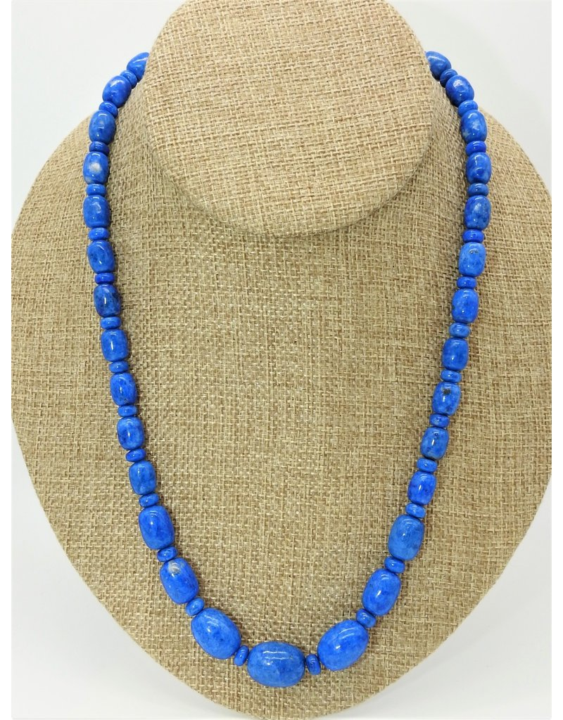 Pam Springall PS-N36C Denim Lapis Bead Necklace
