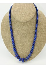 Pam Springall Graduated Lapis Rondells Necklace