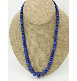 Pam Springall PS-N185C Graduated Lapis Rondells Necklace