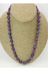 Pam Springall Sugilite Rounds Necklace