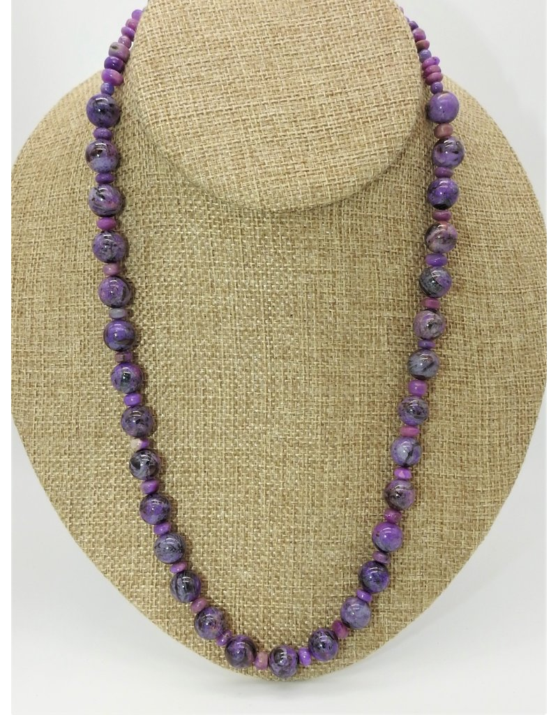 Pam Springall PS-N247C Sugilite Rounds Necklace