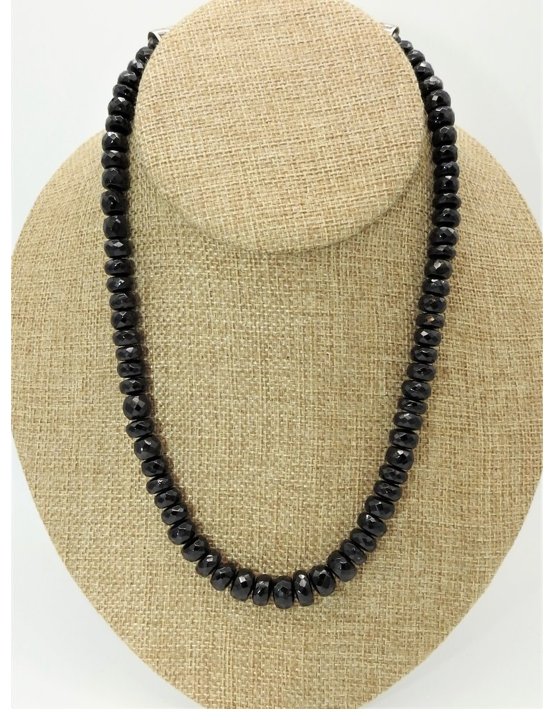 Pam Springall PS-N129C Faceted Black Tourmaline (SRS)