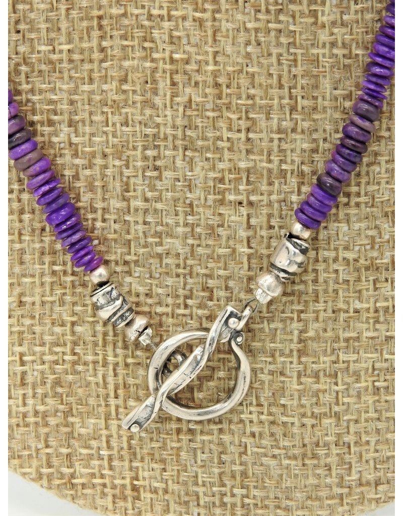 Pam Springall Sugilite Rondells Necklace