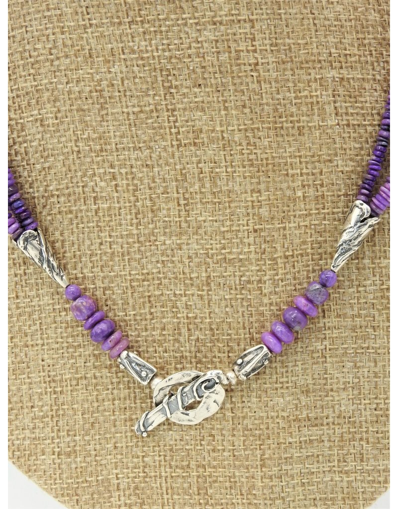 Pam Springall PS-N248C 3-Strand Sugilite Necklace