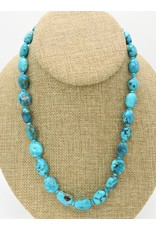 Pam Springall PS-N47C Nakozari Ovals Turquoise Necklace