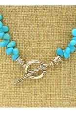 Pam Springall PS-N46 Nakozari Turquoise Petals Necklace