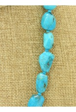 Pam Springall PS-N45 Faceted Nakozari Chunks Turquoise
