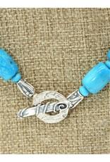 Pam Springall Nakozari Turqquoise Barrel & Rondells Necklace