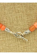 Pam Springall PS-N57 Carnelian Barrels & Rondells Necklace