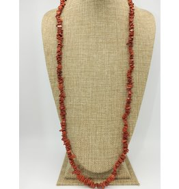 Karina 1-Strand Carnelian Nuggets Necklace 33""