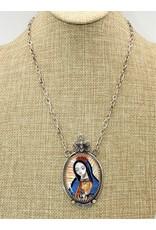 Karina KG-N8 Baca Hand Inlaid Madonna Necklace