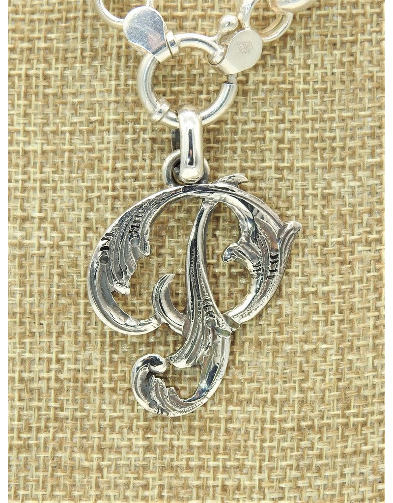 """Mariano Draghi SS Initial P Lg Pendant (1 3/4"""")"""