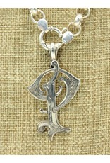 "Mariano Draghi SS Initial P Lg Pendant (2 1/4"") swival bail"