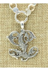 "Mariano Draghi SS Initial  L Lg Pendant (1 3/4"") swival bail"
