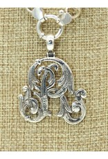 Mariano Draghi SS Initial R Lg Pendant, swival bail