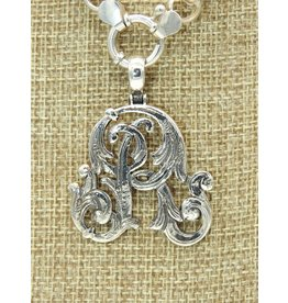 Mariano Draghi MD-C  SS Initial R Lg Pendant, swival bail
