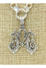 Mariano Draghi SS Initial M Lg Pendant, swival roped bail