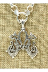 """Mariano Draghi SS Initial M Lg Pendant (2"""") swival bail"""