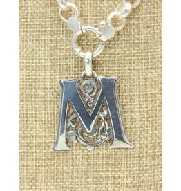 Mariano Draghi MD-C  SS Initial M Lg Pendant