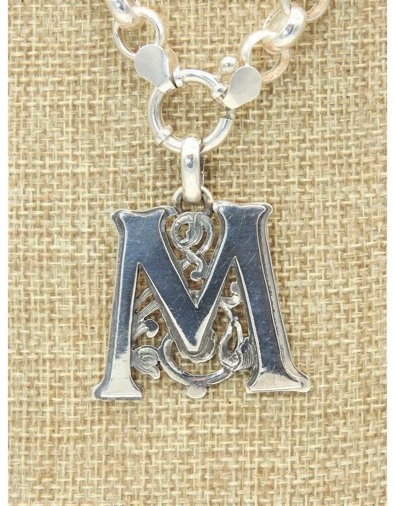 Mariano Draghi SS Initial M Lg Pendant
