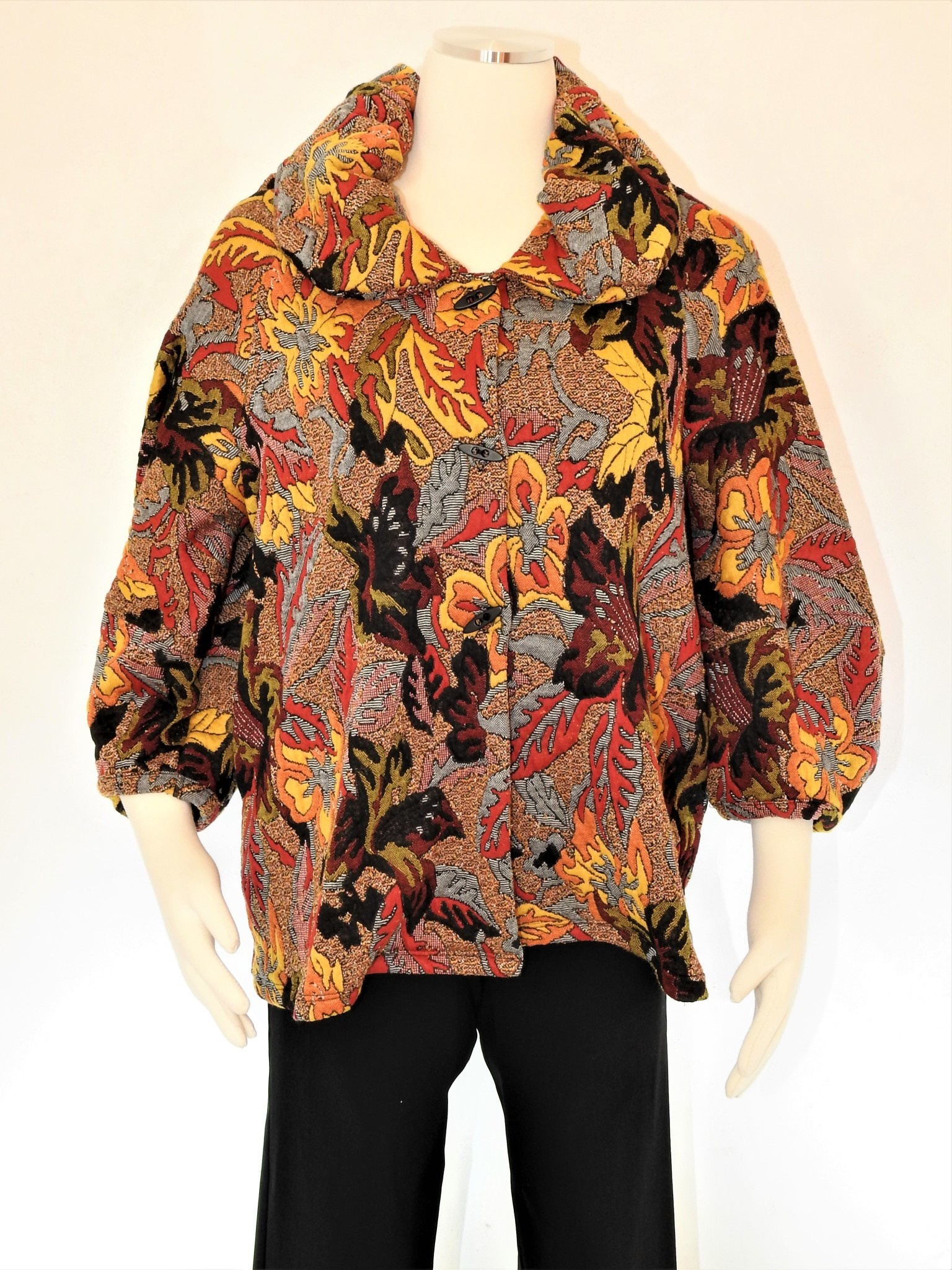 Kiyo Floral Bubble Jacket