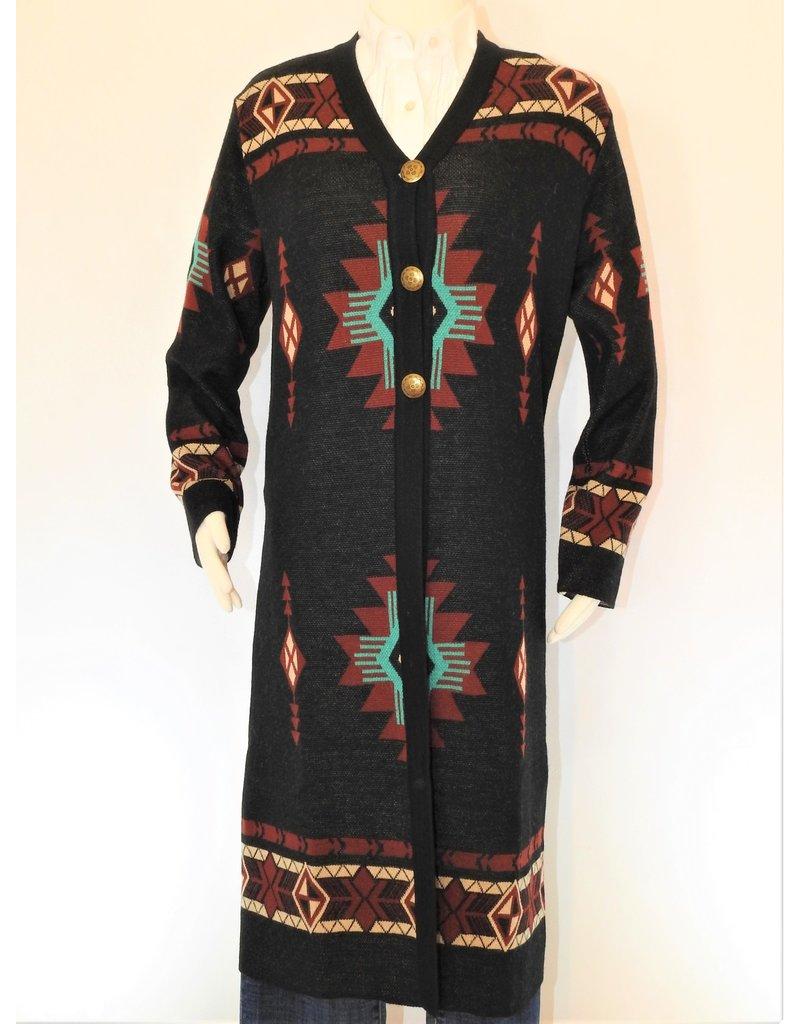 Peruvian Perfection Alpaca Long Sweater Black