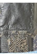 Gossamer Wings Black leather above knee pocket vest Lg