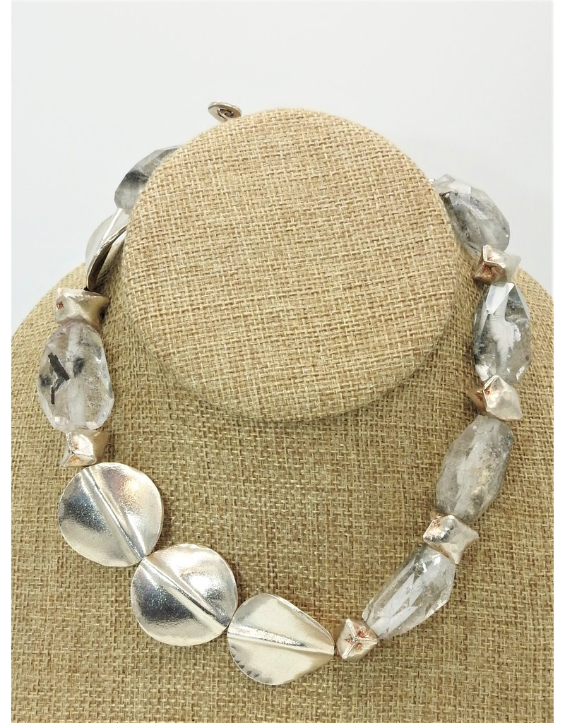 "Paula Sass-Donnelly PSD-N1C 15""Quartz & Silver Necklace"