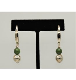 Paula Sass-Donnelly PSD-E21C SS, Jadite/Silver Bead Earrings